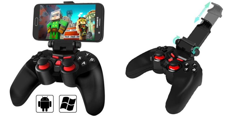 BEBONCOOL Wireless Bluetooth Game Controller with Clip for Android Phone_Tablet_TV Box_Gear VR