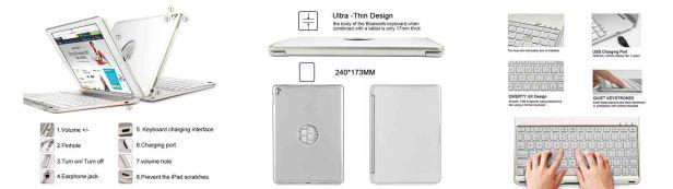 iPad Pro 9.7 Keyboard Case, iEGrow Ultra-Slim iPad