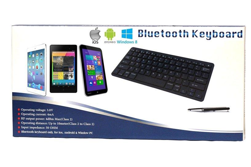 Navitech Black Wireless Bluetooth Multi OS Keyboard Compatible
