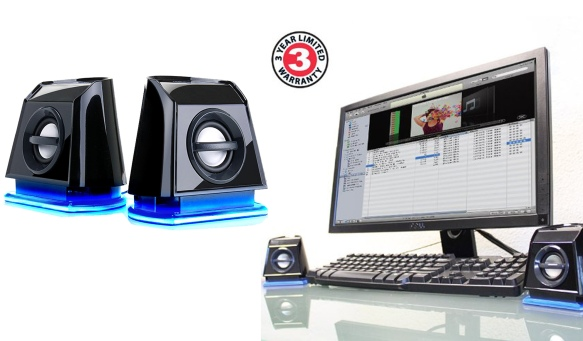 PC speakers blue
