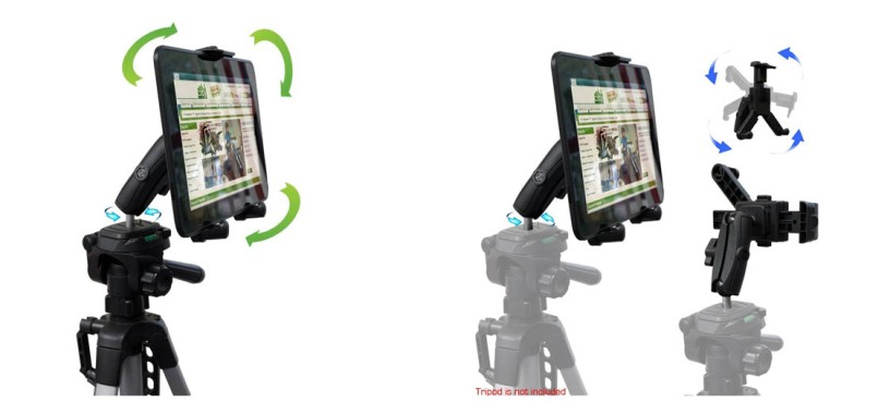 ChargerCity HDX2 Tablet Video Camera Recording/Selfie Tripod