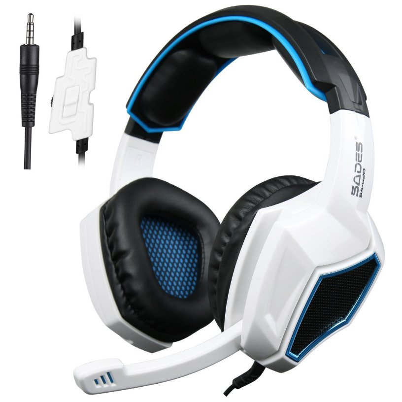 sades xbox one ps4 gaming headset headphones with. Black Bedroom Furniture Sets. Home Design Ideas
