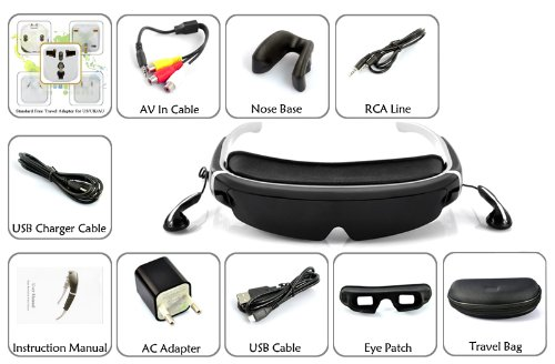 3D Virtual Screen Video Glasses – 98 Inch Virtual Screen FHD 1080